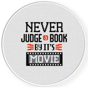 Never Judge A Book By Its Movie Cross Stitch Pattern  https:... thumbnail